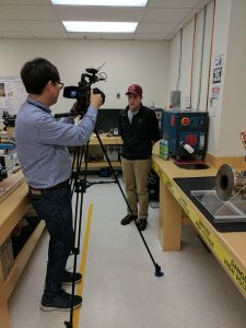South Korean journalist interview Tom Nunnally in the Plasma lab